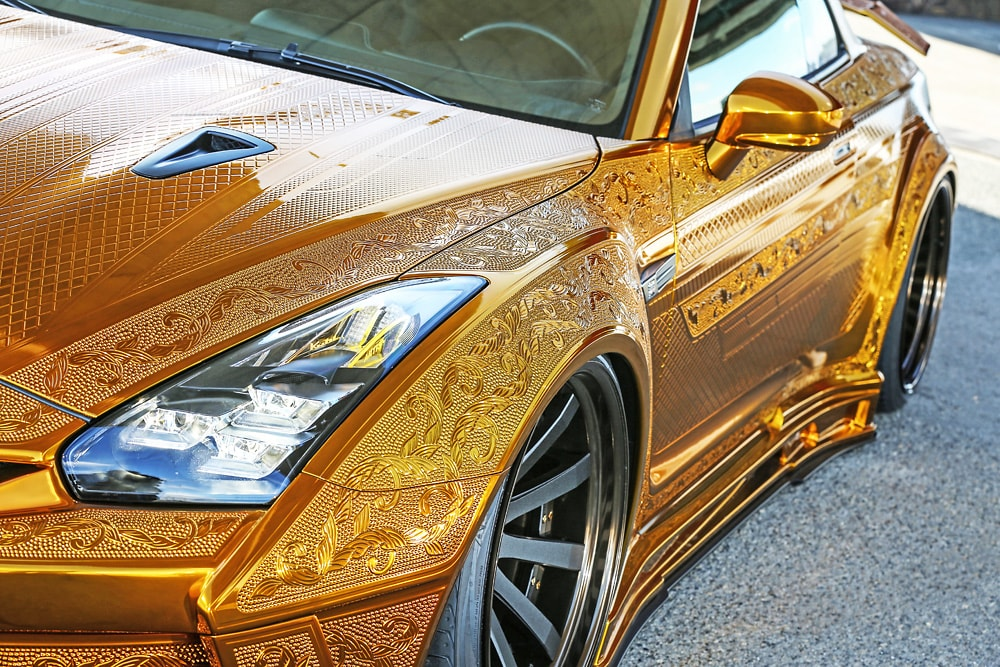 R35GT-R 2016Ver. GOLD METAL PAINT GODZILLA  -HEADLIGHT-
