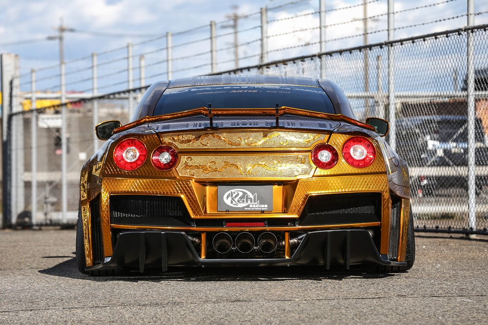 R35GT-R 2016Ver. GOLD METAL PAINT GODZILLA  -REAR-